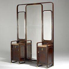 1900, Sécession viennoise, Koloman Moser, dressing mirror, 1901, ©liveauctioneers.com