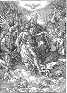 Acheter Tableau 'La Sainte Trinité' de Albrecht Durer - Achat d'une reproduction sur toile peinte à la main , Reproduction peinture, copie de tableau, reproduction d'oeuvres d'art sur toile
