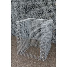 Gabion Wastebin basic lxhxw x x Gabion Wall, Waste Container, Wire Mesh, Mesh Panel, L Shape, Fence, Canning, Stone, Lawn And Garden