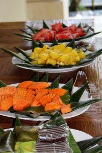 Breakfast at Narasoma Retreat Center in Ubud, Bali - Yoga and Writing for Self-Discovery Retreat Feb 21-28, 2014.