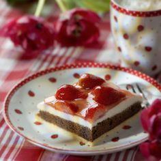 Erdbeer-Quark-Schnitten