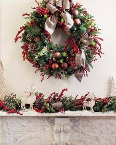 Our Lodge Plaid Decorated Wreath and Garland combine the beauty of a coniferous forest with the charming allure of a woodsy log cabin. A charming mix of deep green pine needles, soft brown pinecones, and bright red berries, these pieces capture the magnificence of the outdoors for your home.