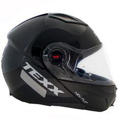 Capacete Moto Texx Escamoteável New Flip Preto