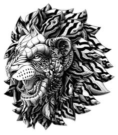 Would love to get this lion as a tattoo - Bioworkz