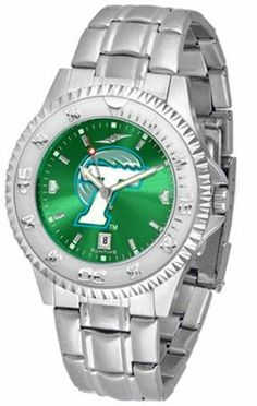 Tulane University Green Wave Men's Stainless Steel Dress Watch SunTime. $86.95. Men. Links Make Watch Adjustable. Stainless Steel. Officially Licensed Tulane Green Wave Men's Stainless Steel Dress Watch. AnoChrome Dial Enhances Team Logo And Overall Look