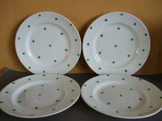 Polka Dot Dinner Plates & Polka Dot Dinner Plate in the rarer red colourway   Polka Dot (C338 ...