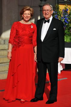 King Constantine and H.M. Queen Anne-Marie attend the Government Pre-Wedding Dinner for Crown Princess Victoria of Sweden and Daniel Westling at The Eric Ericson Hall on June 18, 2010 in Stockholm, Sweden.