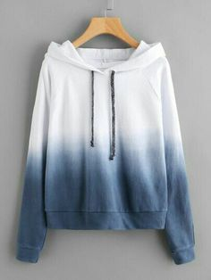 Shein Raglan Sleeve Ombre Hoodie is part of Fashion clothes women - Teenage Outfits, Teen Fashion Outfits, Girl Outfits, Casual Outfits, Womens Fashion, Fashion Top, High Fashion, Fashion Dresses, Fashion 2018