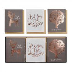 Scandi deer Christmas cards - box of 15