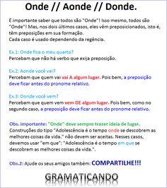 Português: onde, aonde ou donde? #dicasdeportugues #gramaticando