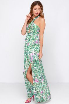 Billabong Hold On Me Multi Print Maxi Dress  Hold on Billabong ...