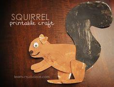 paper squirrel craft