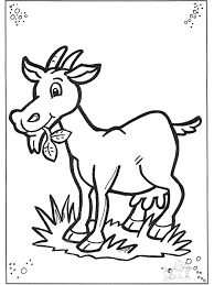 Kleurplaat: geit knutselen - Google zoeken Farm Animal Coloring Pages, Coloring Pages To Print, Colouring Pages, Coloring Pages For Kids, Coloring Books, Coloring Sheets, Dog Drawing Simple, Drawing For Kids, Goat Picture