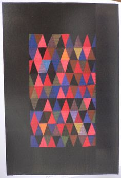"""Triangles crib quilt, ca. 1930    From """"Amish Abstractions."""""""