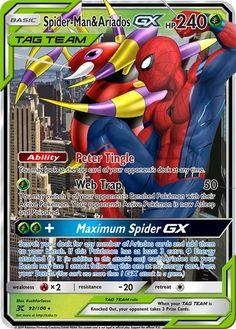 Spider-Man & Ariados GX Custom Pokemon Card The post Spider-Man & Ariados GX Custom Pokemon Card appeared first on Poke Ball. Tous Les Pokemon, Oc Pokemon, Pokemon Fusion Art, Pokemon Memes, Fake Pokemon Cards, Pokemon Cards Legendary, Pokemon Crossover, Cute Pokemon Wallpaper, Funny Marvel Memes