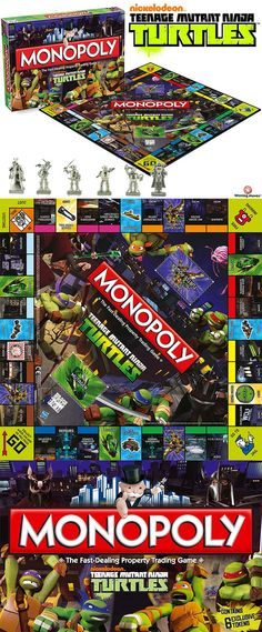 I want it, I want it, I want it. Teenage Mutant Ninja Turtles Monopoly!!!!!!!!!!!!!!!!!! Aaaaaaaaaaaahhhhh!!!!!