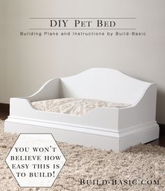 DIY Pet Bed by Build Basic The post is sponsored by BuildSomething and Kreg Today I'm so excited to be teaming up with my friends at BuildSomething to bring you free building plans for this … - Amazing Diy Projects Ideas Diy Pet, Diy Dog Bed, Pet Beds Diy, Wood Dog Bed, Decoration Ikea, Decor Diy, Dog Furniture, Woodworking Furniture, Furniture Plans