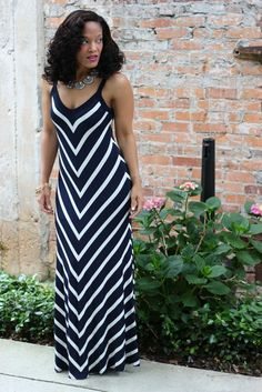 Karen Kane Maxi Dress with Accessory Concierge Necklace and Earrings