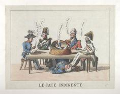1815.Bodleian Libraries, Le paté indigeste.French political cartoon.