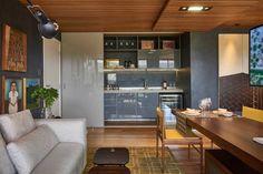 David Guerra designed this compact apartment in Brazil for the Casa Cor Minas 2014 Exhibition