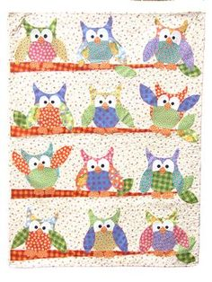 Okey Dokey Owl and Friends Applique Quilt Pattern Download