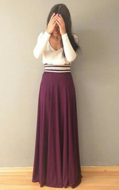 Love the color and length of this skirt.