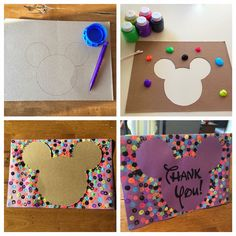 Disney silhouettes make the perfect card! Add a Disney font for the perfect note :)