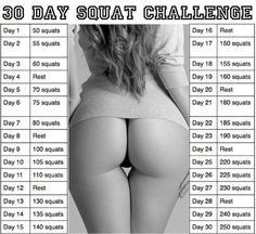 OMG!! If all I have to do is squats to get that butt!! Challenge accepted!! Haha