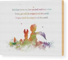 #wallhanging #littleprince #lepetitprince #quote #watercolor