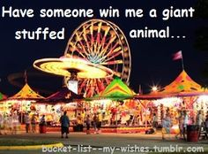 Have someone win me a giant stuffed animal