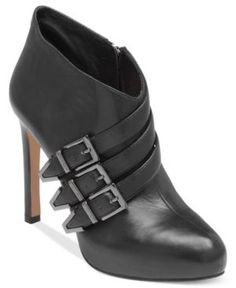 Vince Camuto Boots, Ashia Belted Shooties Women's Shoes