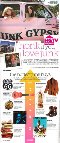 Honk if you love Junk!!! the hottest junk buys from the Junk Gypsies & @hgtv magazine
