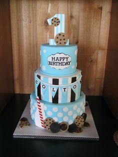 Cookies & Milk Birthday Cake    made by Cakes by Elisa
