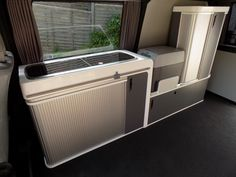 Vangear campervan units/pods for camper conversion with sink, hob, table and storage for VW T4 T5 etc
