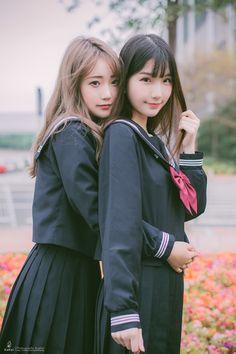 School Girl Japan, High School Girls, Japan Girl, Cute Japanese, Cute Girl Outfits, Beautiful Asian Women, Beautiful Japanese Girl, Kawaii Girl, Asian Cute