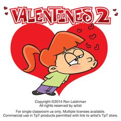 Valentines cartoon clipart for teachers