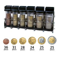 Coin dispenser by Cambist - makes an efficient and easy to use coin handling system for cash fare collection onboard your bus, train or tram. Euro Coins, Safe Storage, Easy To Use, Tube, Change, Board, Fit, Shape, Planks