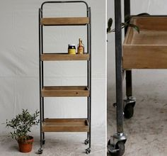 4 Tier Shelf | Metal Furniture | Shelf On Casters