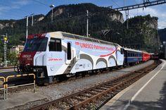 """Rhätische Bahn (RhB), Ge 4/4 III 650 """"Seewis im Prättigau"""", Thusis (GR)"""