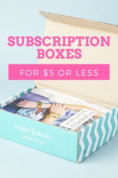 Cheap subscription boxes are the best! Check out our list of monthly subscription boxes you can try for $5 or less! Many of the boxes are FREE!