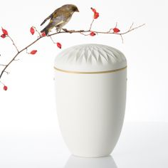 """SAMOSA-Urne """"DAHLIE"""" ... Die Dahlie gilt als Symbol für die ewige Liebe und Verbindung zweier Menschen zueinander – sowohl im Leben als auch im Tod. Darüber hinaus ist sie ein Zeichen der Dankbarkeit für all die schönen Momente, die man mit einem geliebten Menschen teilen durfte."""