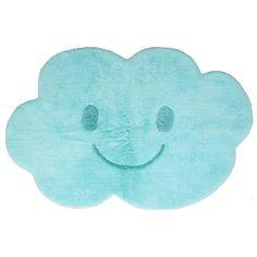 Les amateurs de turquoise et de douceur vont adorer ce tapis ! Avec son joli sourire et son toucher tout doux, ce tapis en forme de nuage plaira beaucoup à vos loopiots. Installé sur le sol d'une chambre de bébé ou d'enfant, il deviendra leur terrain de jeux préféré. Ce tapis Nimbus bleu est lavable en machine pour un entretien facile et rapide.  Dimensions : 115 x 75 cm
