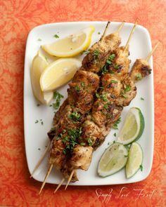 Chipotle, honey and lime grilled chicken kabobs | Simply Love Food