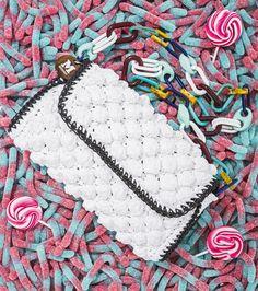 #MMissoni | SS 15 | White Raffia Bag