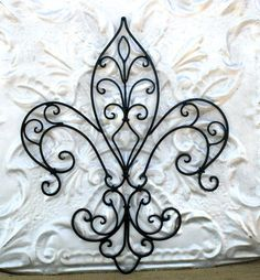 Fleur De Lis Metal Wall Art/ Wrought Iron by MichelleLisaTreasure