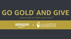 Amazon joins ACCO to GO GOLD® this September, Childhood Cancer Awareness Month, to raise awareness and elevate childhood cancer as a national child health priority.