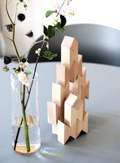 Via MyDubio | HAY Twins Wooden Blocks by All The Way To Paris