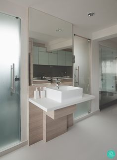 Linear Space Concepts: Common sink for bathrooms
