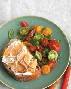 Smoked Trout on Toast with Tomato Salad Recipe