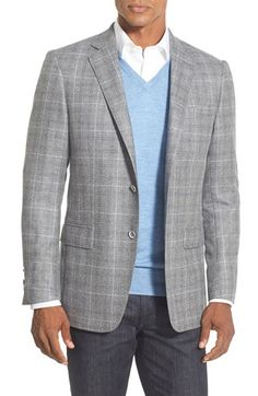 Hart Schaffner Marx 'New York' Classic Fit Plaid Wool Sport Coat available at #Nordstrom